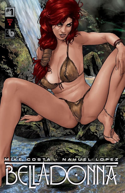 Cover for Belladonna (Avatar Press, 2015 series) #1 [Kickstarter Nude and Naughty B - Christian Zanier Cover]