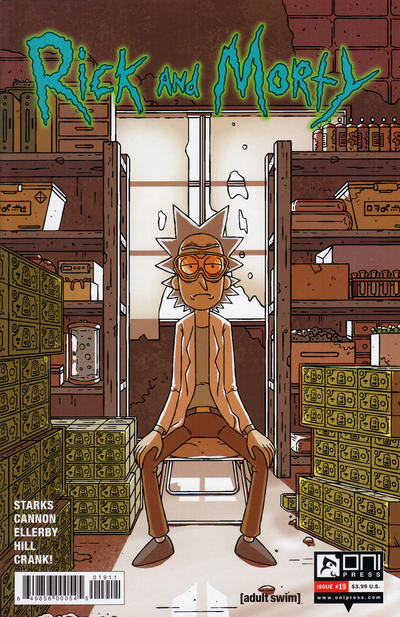 Cover for Rick and Morty (Oni Press, 2015 series) #19 [Regular CJ Cannon Cover]