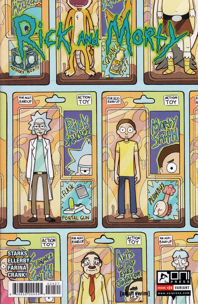 Cover for Rick and Morty (Oni Press, 2015 series) #24 [Retail Cover]