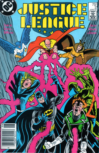 Cover for Justice League (DC, 1987 series) #2 [Newsstand]