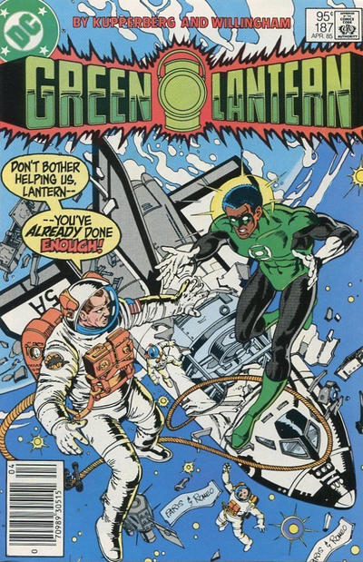 Cover for Green Lantern (DC, 1960 series) #187 [Direct Edition]