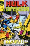Cover for Hulk E I Difensori (Editoriale Corno, 1975 series) #13
