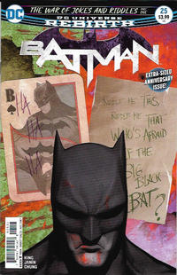 Cover Thumbnail for Batman (DC, 2016 series) #25