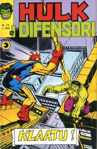 Cover Thumbnail for Hulk E I Difensori (Editoriale Corno, 1975 series) #13