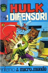 Cover Thumbnail for Hulk E I Difensori (Editoriale Corno, 1975 series) #31