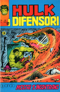Cover Thumbnail for Hulk E I Difensori (Editoriale Corno, 1975 series) #28
