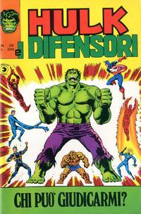 Cover Thumbnail for Hulk E I Difensori (Editoriale Corno, 1975 series) #29
