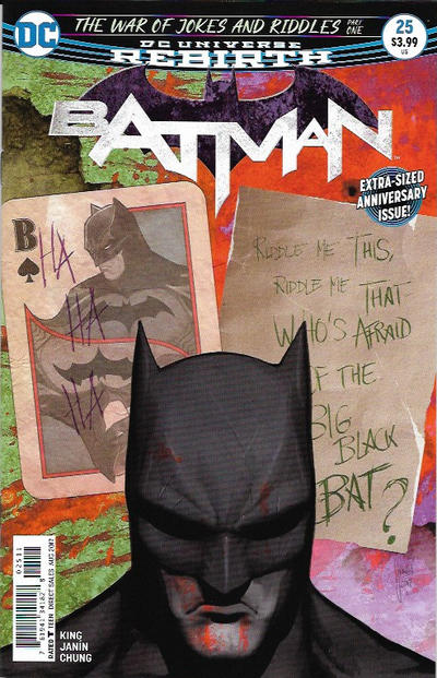 Cover for Batman (DC, 2016 series) #25 [Second Printing]