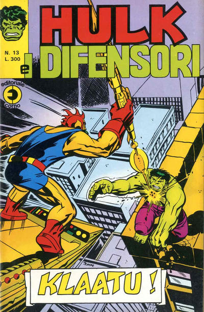 Cover for Hulk E I Difensori (Editoriale Corno, 1975 series) #13