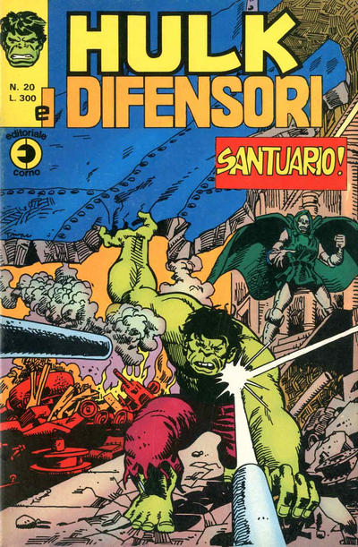 Cover for Hulk E I Difensori (Editoriale Corno, 1975 series) #20