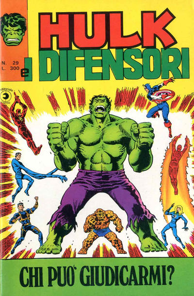Cover for Hulk E I Difensori (Editoriale Corno, 1975 series) #29