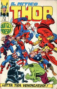 Cover Thumbnail for Il Mitico Thor (Editoriale Corno, 1971 series) #70