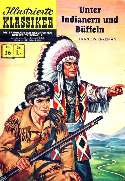 Cover for Illustrierte Klassiker [Classics Illustrated] (BSV - Williams, 1956 series) #36 - Unter Indianern und Büffeln [HLN 36]