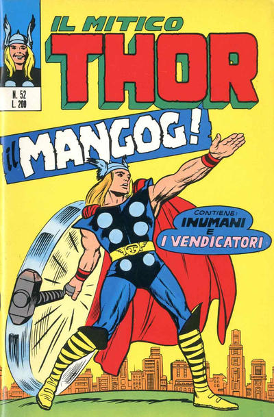Cover for Il Mitico Thor (Editoriale Corno, 1971 series) #52