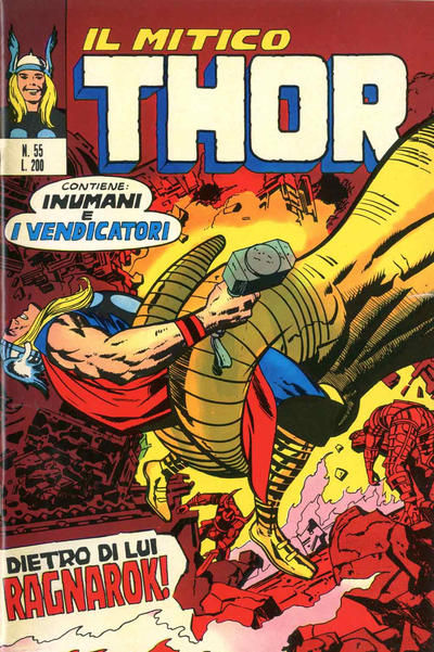 Cover for Il Mitico Thor (Editoriale Corno, 1971 series) #55