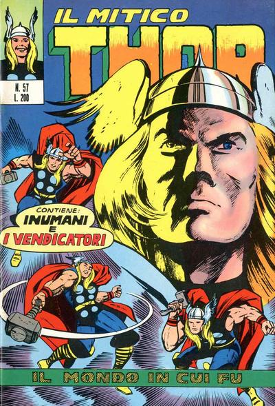 Cover for Il Mitico Thor (Editoriale Corno, 1971 series) #57