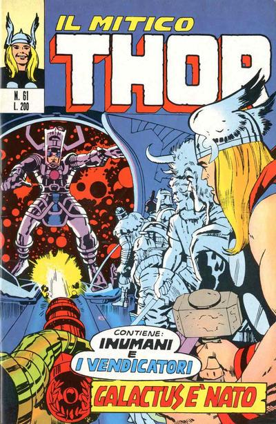 Cover for Il Mitico Thor (Editoriale Corno, 1971 series) #61