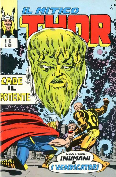 Cover for Il Mitico Thor (Editoriale Corno, 1971 series) #63
