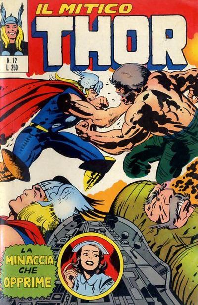 Cover for Il Mitico Thor (Editoriale Corno, 1971 series) #72
