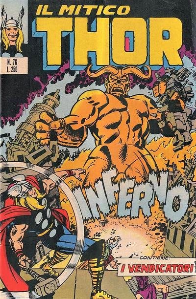 Cover for Il Mitico Thor (Editoriale Corno, 1971 series) #76