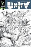 Cover for Unity (Valiant Entertainment, 2013 series) #2 [Cover D - Black and White Sketch - Doug Braithwaite]
