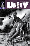 Cover for Unity (Valiant Entertainment, 2013 series) #5 [Cover G - Black and White Sketch - Mico Suayan]