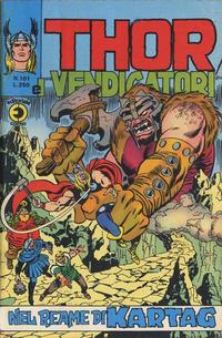 Cover Thumbnail for Thor e i Vendicatori (Editoriale Corno, 1975 series) #101