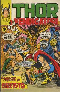 Cover Thumbnail for Thor e i Vendicatori (Editoriale Corno, 1975 series) #110