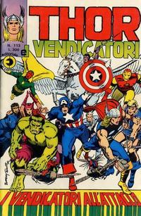 Cover Thumbnail for Thor e i Vendicatori (Editoriale Corno, 1975 series) #113