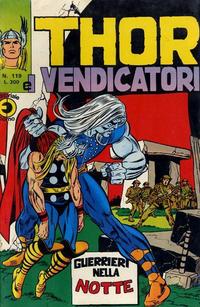 Cover Thumbnail for Thor e i Vendicatori (Editoriale Corno, 1975 series) #119