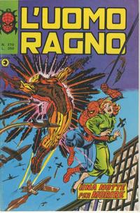 Cover Thumbnail for L'Uomo Ragno [Collana Super-Eroi] (Editoriale Corno, 1970 series) #210