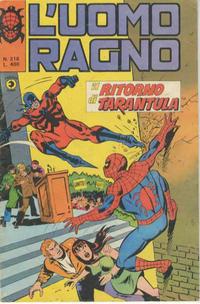 Cover Thumbnail for L'Uomo Ragno [Collana Super-Eroi] (Editoriale Corno, 1970 series) #218