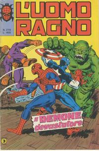 Cover Thumbnail for L'Uomo Ragno [Collana Super-Eroi] (Editoriale Corno, 1970 series) #219