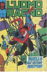 Cover Thumbnail for L'Uomo Ragno [Collana Super-Eroi] (Editoriale Corno, 1970 series) #215