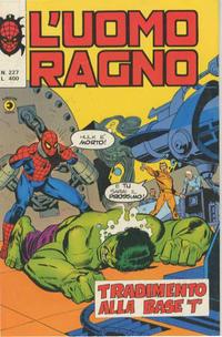 Cover Thumbnail for L'Uomo Ragno [Collana Super-Eroi] (Editoriale Corno, 1970 series) #227