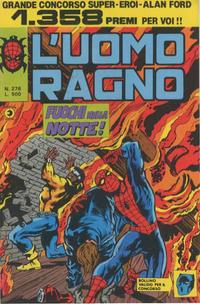 Cover Thumbnail for L'Uomo Ragno [Collana Super-Eroi] (Editoriale Corno, 1970 series) #278