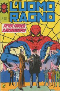 Cover Thumbnail for L'Uomo Ragno [Collana Super-Eroi] (Editoriale Corno, 1970 series) #269