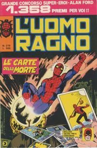 Cover Thumbnail for L'Uomo Ragno [Collana Super-Eroi] (Editoriale Corno, 1970 series) #279