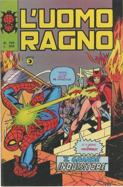 Cover for L'Uomo Ragno [Collana Super-Eroi] (Editoriale Corno, 1970 series) #196