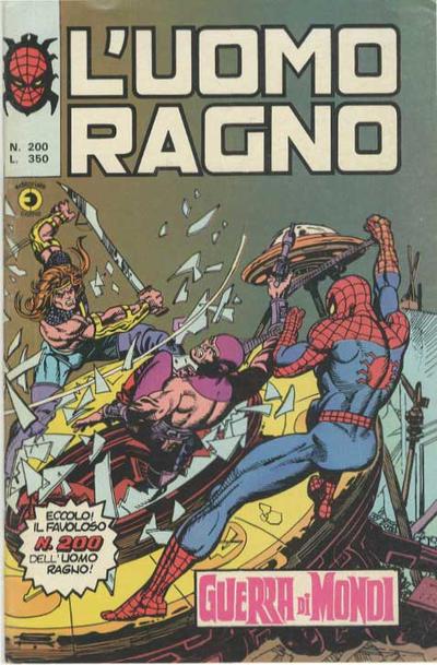 Cover for L'Uomo Ragno [Collana Super-Eroi] (Editoriale Corno, 1970 series) #200