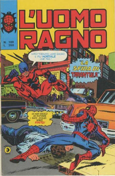 Cover for L'Uomo Ragno [Collana Super-Eroi] (Editoriale Corno, 1970 series) #188