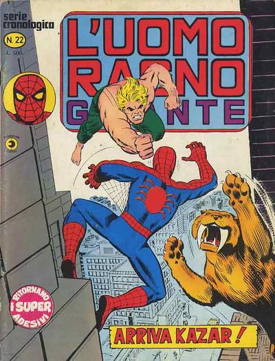 Cover for L'Uomo Ragno Gigante (Editoriale Corno, 1976 series) #22