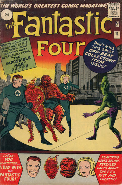 Cover for Fantastic Four (Marvel, 1961 series) #11 [Regular Edition]