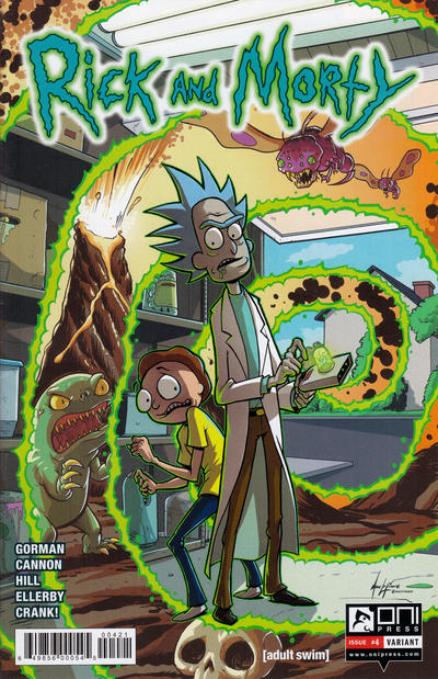 Cover for Rick and Morty (Oni Press, 2015 series) #4 [CJ Cannon Cover]