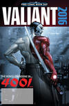 Cover for Valiant: 4001 A.D. FCBD Special (Valiant Entertainment, 2016 series)  [Red Logo - Clayton Crain]