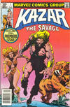 Cover for Ka-Zar the Savage (Marvel, 1981 series) #1 [Newsstand]