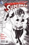Cover for Superman (DC, 2011 series) #32 [John Romita Jr. / Klaus Janson Black & White Cover]
