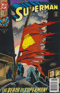 Cover Thumbnail for Superman (DC, 1987 series) #75 [Newsstand]