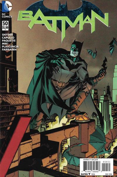 Cover for Batman (DC, 2011 series) #50 [Batman v Superman Full Color Cover]