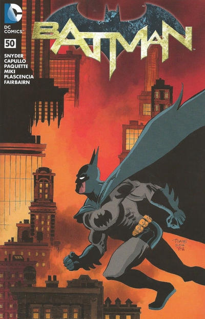 Cover for Batman (DC, 2011 series) #50 [Midtown Comics Connecting Cover]